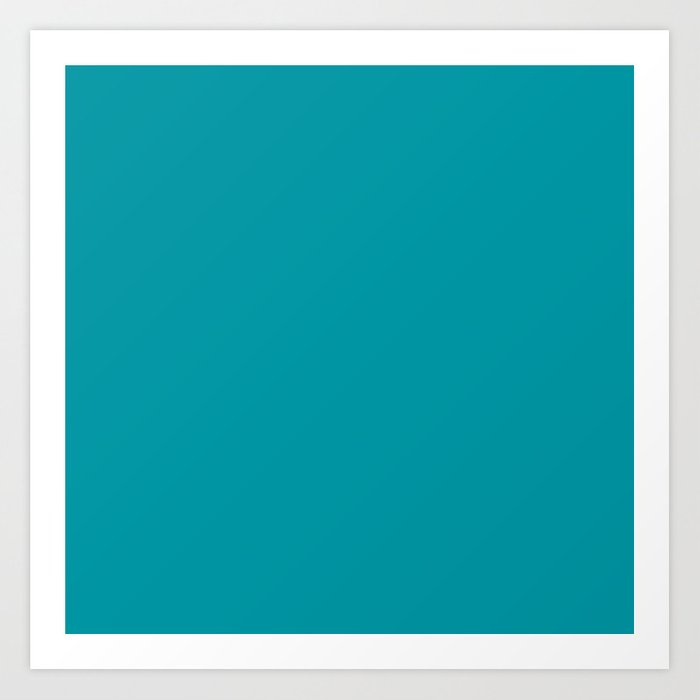 Turquoise Blue Teal | Solid Colour Kunstdrucke