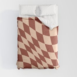 Warped Check Light Brown  Comforters