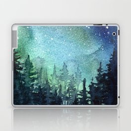 Galaxy Watercolor Aurora Borealis Painting Laptop & iPad Skin