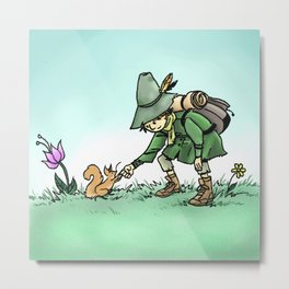 Snufkin and Squirrel Metal Print