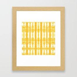 Yellow Tiki Shibori Framed Art Print