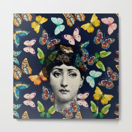 The Butterfly Queen Metal Print