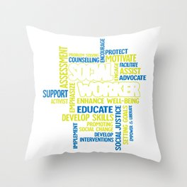 Social Work Month Gift for Social Worker Throw Pillow