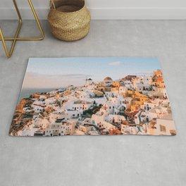 Dreaming at Dusk | Santorini, Greece Rug
