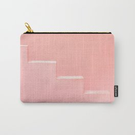 Pink steps of Muralla Roja Spain | Andalusia travel photography art pastel colored poster Carry-All Pouch