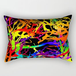 Tickled - black Rectangular Pillow