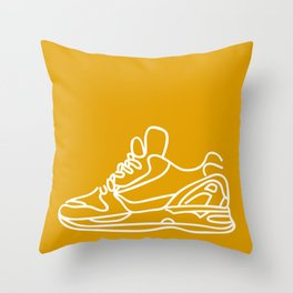 Sneakers Outline #3 Throw Pillow