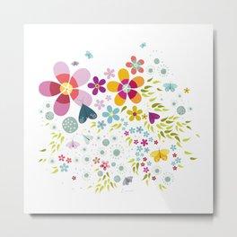 Schmetterlingswiese – Butterfly-Meadow Metal Print