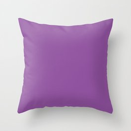 From The Crayon Box – Vivid Violet - Bright Purple Solid Color Throw Pillow