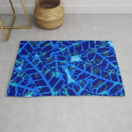 Blue Palm Shadows Rug