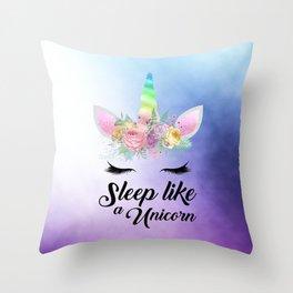 Sleep Like A Unicorn Throw Pillow