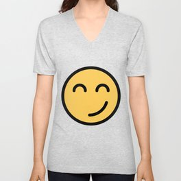 Smiley Face      Cute Funny Smiling Happy Face Unisex V-Neck