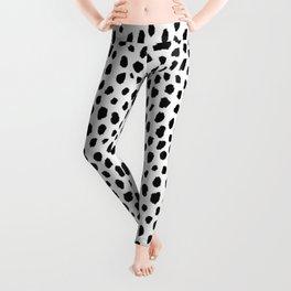 Dalmatian Spots (black/white) Leggings