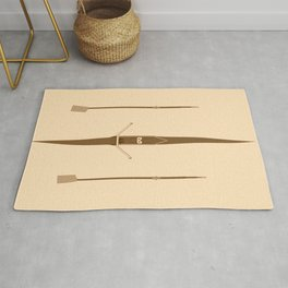 rowing single scull Rug