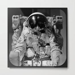 Astronaut Rectangle Metal Print