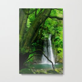 Waterfall in Azores islands Metal Print