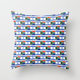 Mix of flag : Israel and south africa Throw Pillow