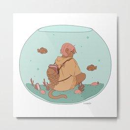 Taiyaki Aquarium Fish bowl Metal Print