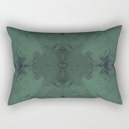 Spongey Existence in Teal Rectangular Pillow