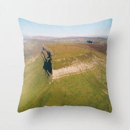 Aerial view of Benbulbin or Benbulben Throw Pillow