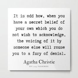93  | Agatha Christie Quotes | 190821 Metal Print