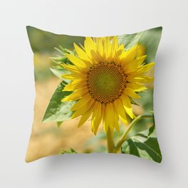 Cheerful sunflower Throw Pillow