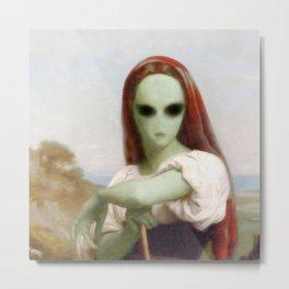 Bouguereau's Alien Shepherdess Metal Print