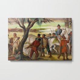 Battle of New Orleans, 1815, Chalmette, Louisiana landscape painting by Ethel Magafan Metal Print