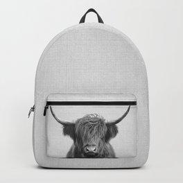 Highland Cow - Black & White Backpack