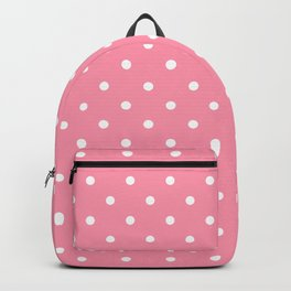 Light Pink Polka Dots Backpack