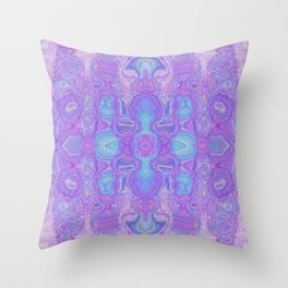 Lavender Dreams Abstract Throw Pillow