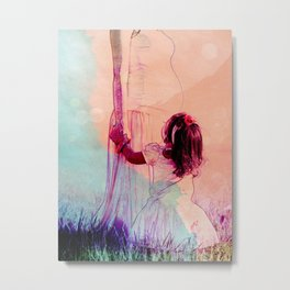 Mother and Daughter Metal Print