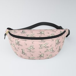 Little Sheep on the pink meadow Fanny Pack