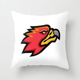 Firebird Head Mascot Throw Pillow