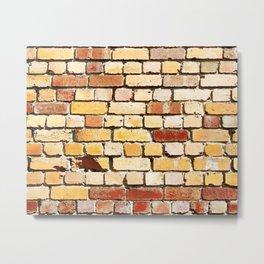 Old Brick Wall Metal Print