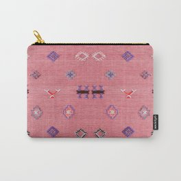 N61 - Lovely Pink Traditional Boho Farmhouse Moroccan Style Artwork Carry-All Pouch