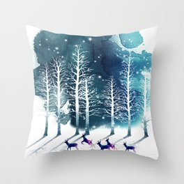 Winter Night 2 Throw Pillow