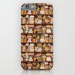 Bookshelf Pattern Dark iPhone Case