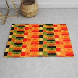 African Style Kente Cloth Rug