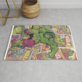 The Hulk Vintage Comic Art Rug
