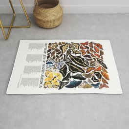 Butterflies of North America Rug
