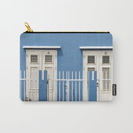 Blue Caribbean house Carry-All Pouch