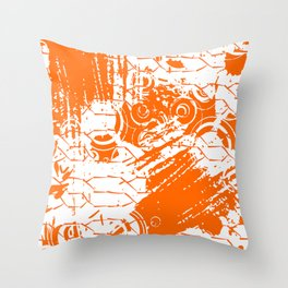 Abstract Orange Grungy Background  Throw Pillow