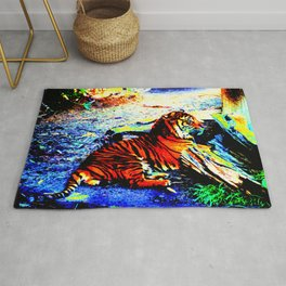 Relaxing Tiger Bright Rug
