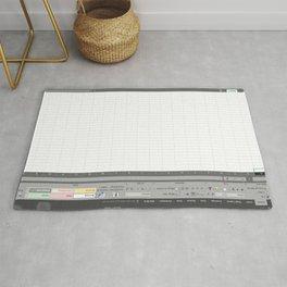Excel Spreadsheet Rug