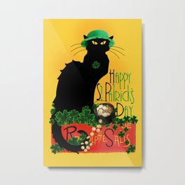 St Patrick's Day - Le Chat Noir Metal Print