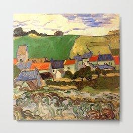 View of Auvers, Vincent van Gogh. Metal Print