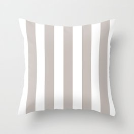 Silver (Crayola) grey - solid color - white vertical lines pattern Throw Pillow