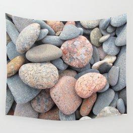 Watercolor Rock, Pebbles 05, Cape Breton, Nova Scotia, Canada, No Worries Here Wall Tapestry
