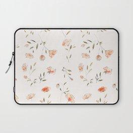 Watercolor Floral Pattern Laptop Sleeve
